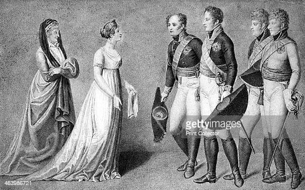 The reception of Alexander I the Emperor of Russia at Memel 1802 Receiving him are their majesties Frederick William and Louisa of Prussia