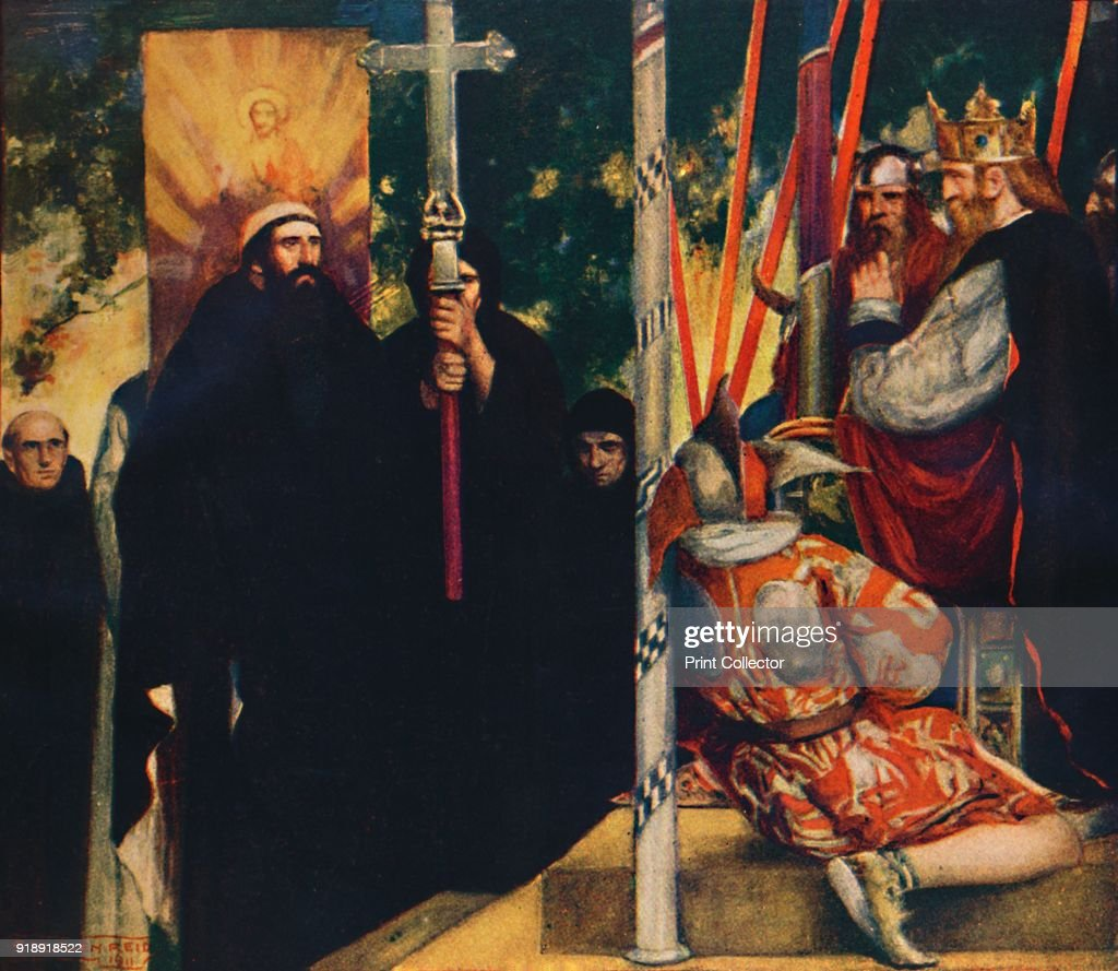 The Reception Of Saint Augustine By Ethelbert : News Photo