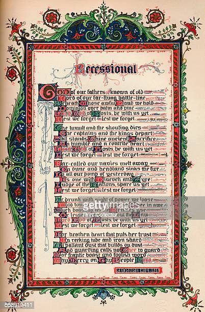 'The Recessional' c1900 'The Recessional' is a poem by Rudyard Kipling which he composed for the Queen Victoria's Diamond Jubilee in 1897 From The...