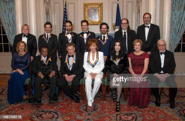 The recipients of the 41st Annual Kennedy Center Honors pose for a group photo following a dinner hosted by United States Deputy Secretary of State...