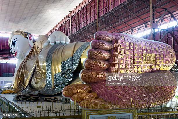 The Reclining Buddha at Chauk Htat Gyi in Yangon in Myanmar