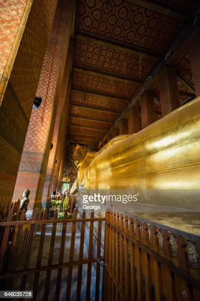 The reclining Buddha at Wat Pho.bangkok
