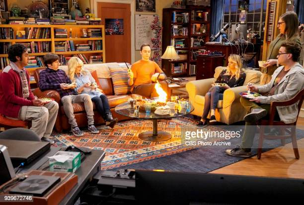 'The Reclusive Potential' Pictured Rajesh Koothrappali Howard Wolowitz Bernadette Sheldon Cooper Penny Amy Farrah Fowler and Leonard Hofstadter A...