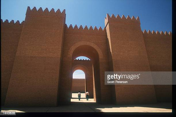The reconstructed palace of Nebuchadnezzar sits in the ancient city of Babylon May 2 1997 in Iraq Since the invasion of Kuwait by Iraq in August 1990...