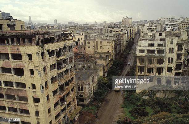 The reconstruction of Big Beiruit opening of the green line in Beirut Lebanon on December 23 1990 Downtown
