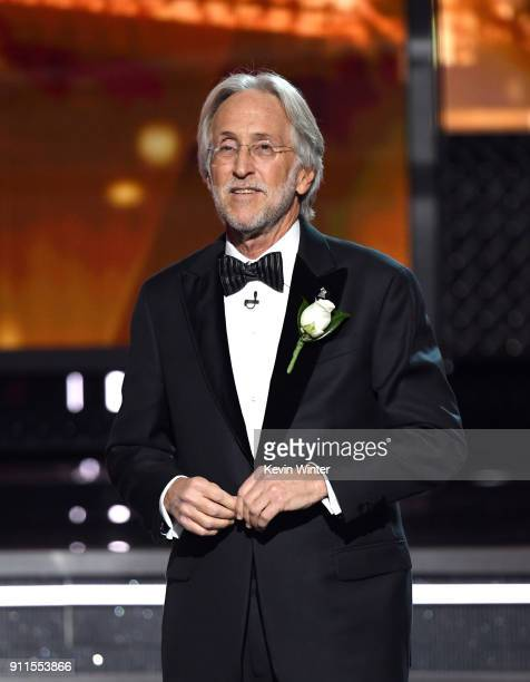 The Recording Academy and MusiCares President/CEO Neil Portnow speaks onstage during the 60th Annual GRAMMY Awards at Madison Square Garden on...
