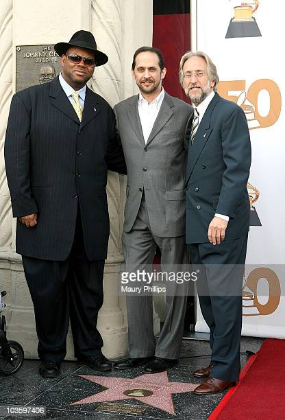 The Recording Academy Chair Jimmy Jam, The Recording Academy Executive Vice President David Grossman and The Recording Academy President/CEO Neil...