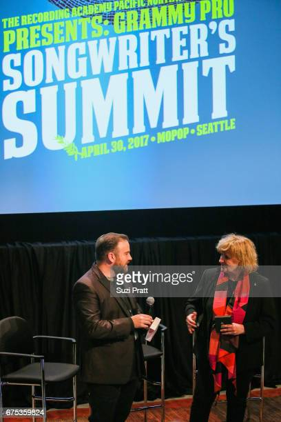 The Recording Academy PNW Chapter Exective Director Michael Compton and Chapter Board President Sue Ennis speak at the GRAMMYPro Songwriter's Summit...