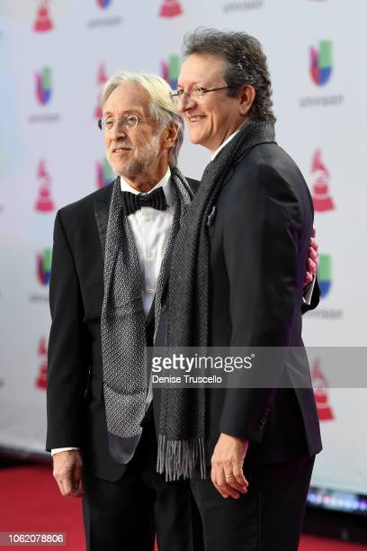The Recording Academy President Neil Portnow and President and CEO of the Latin Recording Academy Gabriel Abaroa attends the 19th annual Latin GRAMMY...