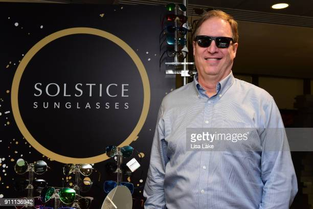 The Recording Academy's CIO Rick Engdahl at Solstice sunglasses trying Polaroid polarized sunglasses during the GRAMMY Gift Lounge during the 60th...