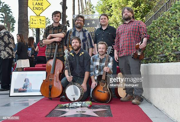 The recording group Trampled by Turtles attends the ceremony posthumosly honoring John Denver with the 2531st star on the Hollywood Walk of Fame on...