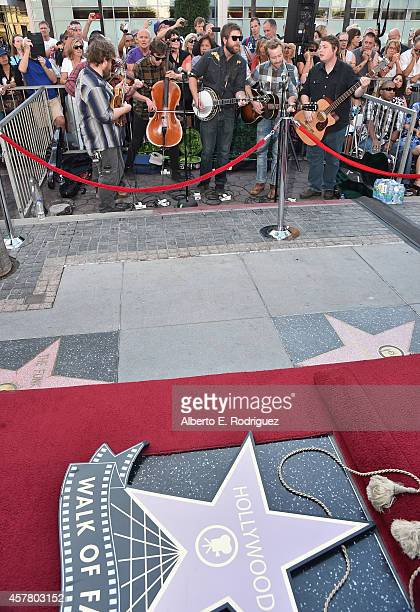 The recording group Trampled by Turtles performs at the ceremony posthumosly honoring John Denver with the 2531st star on the Hollywood Walk of Fame...