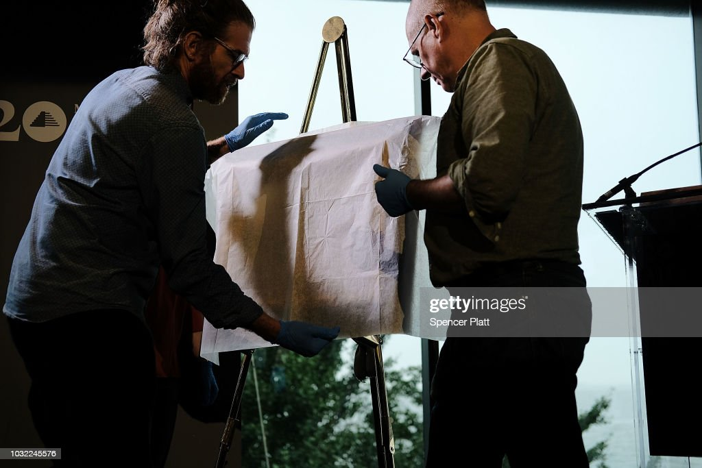The recovered Impressionist painting 'Two Women in a Garden,' painted in 1919 by Pierre-Auguste Renoir, is placed on an easel to be displayed at a news conference on September 12, 2018 in New York City. The work of art originally belonged to Sylvie Sulitzer's grandfather Alfred Weinberger and was stolen by the Nazis in Paris during the World War II. The only living heir, Sylvie Sulitzer became aware of the work in 2013, when the painting had been listed for sale at Christie's in New York. With the Help of the FBI and the United States attorney's office in Manhattan the painting was finally returned to her at a ceremony at the Museum of Jewish Heritage in Lower Manhattan.