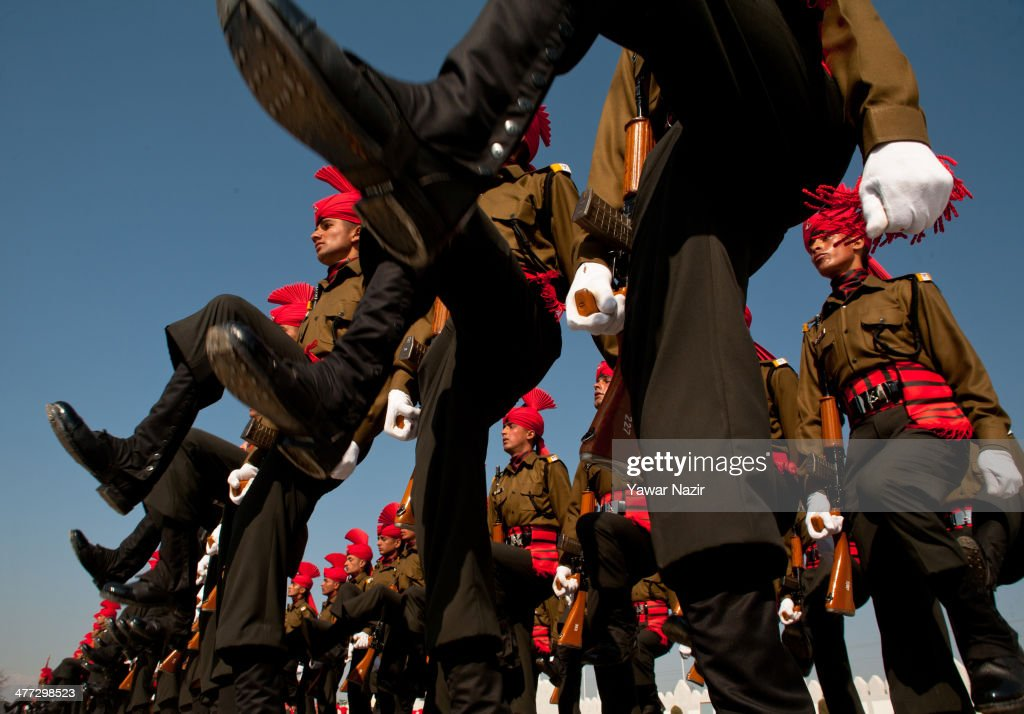 Kashmir Recruits Inducted Into Indian Army : News Photo