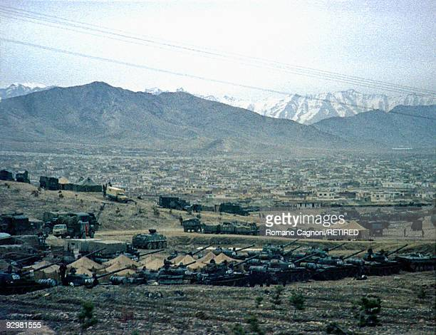 The Red Army base in Kabul during the invasion of Afghanistan by the Russians, January 1980.
