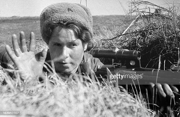 The Red Army Soviet sniper in 1942 AFP PHOTO/RIA Novosti