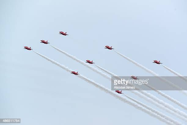 The Red Arrows at Rhyl Airshow, Diamond formation