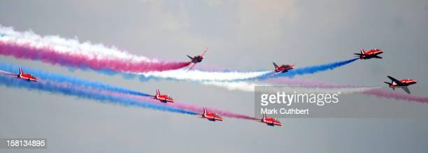 The Red Arrows At The Biggin Hill International Air Fair In Kent.
