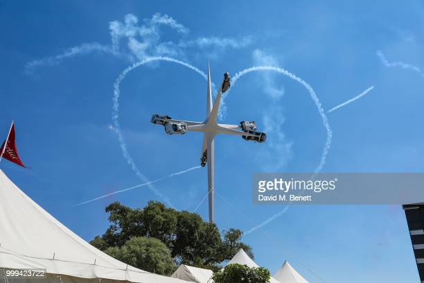 The Red Arrows at The Goodwood Festival Of Speed Goodwood on July 15 2018 in Chichester England