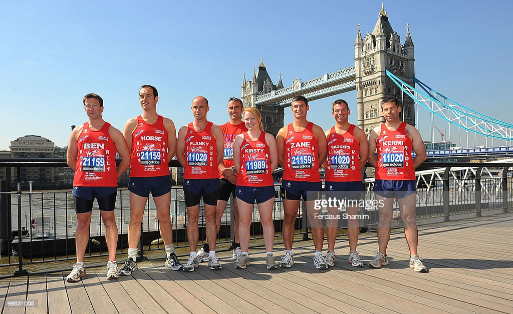 The Red Arrows attend a photocall for the 2010 Virgin London Marathon on April 23, 2010 in London, England.