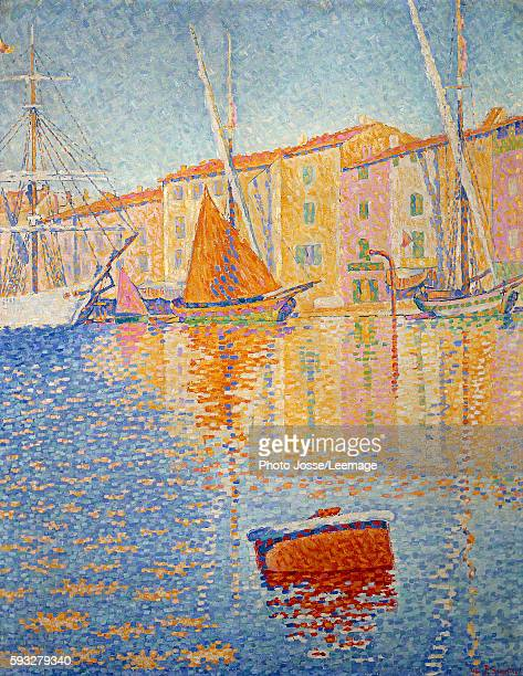 The red buoy Painting by Paul Signac 1895 081 x 065 m Orsay Museum Paris