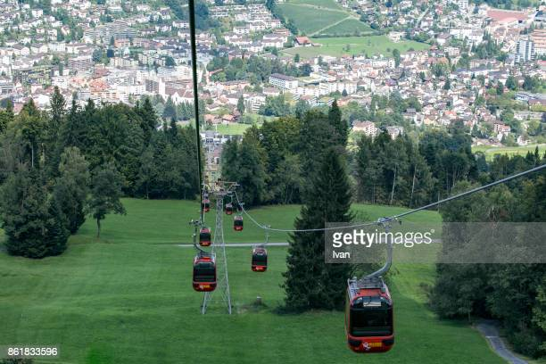 The Red Cable Car of Mt. Pilatus, Swaziland