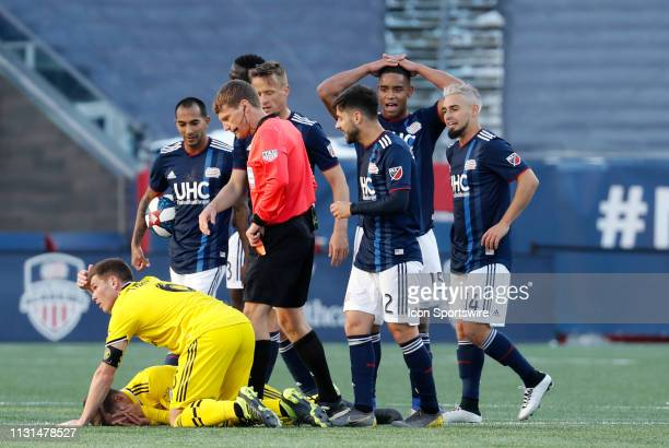 The red card to an astonished New England Revolution defender Brandon Bye was overturned by VAR during a match between the New England Revolution and...