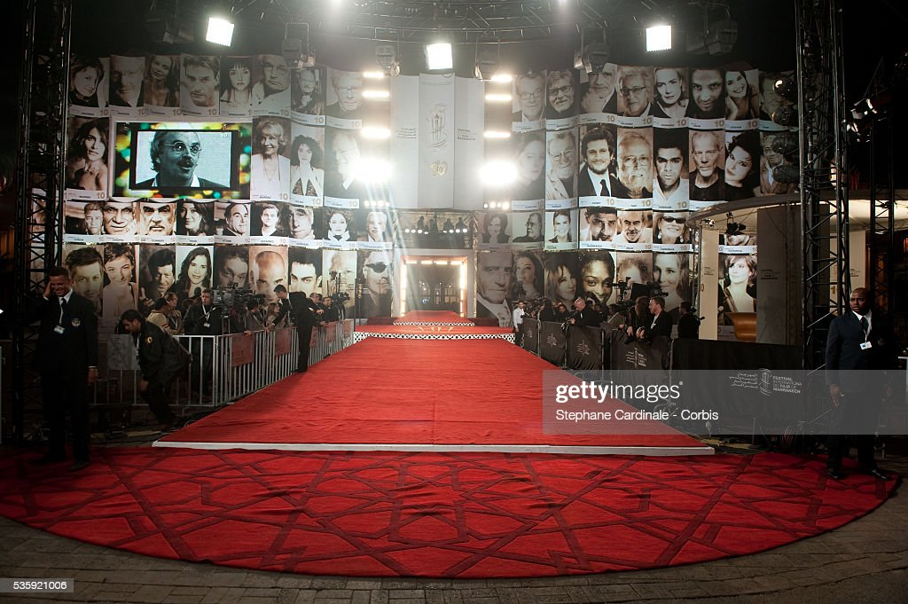 The Red Carpet of the Marrakech 10th Film Festival.