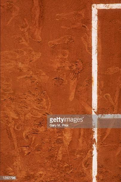 The red clay court of Roland Garros during the 1993 Frnach Open at Roland Garros in Paris France Mandatory Credit Gary M Prior /Allsport
