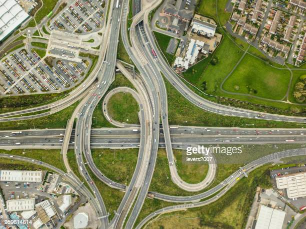the red cow roundabout, dublin, ireland. - ireland stock pictures, royalty-free photos & images