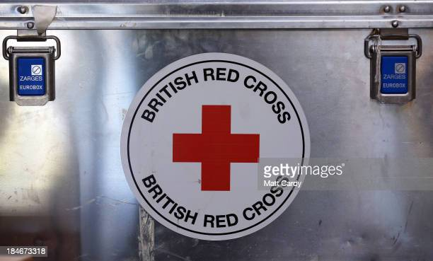 The Red Cross logo is displayed inside the British Red Cross Bristol Emergency Response Unit as it marks the 150th anniversary of The Red Cross...