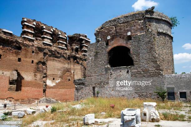 The Red Hall Temple of Serapis. Or Temple of the Egyptian Gods. In Bergama. Turkey. Europe.