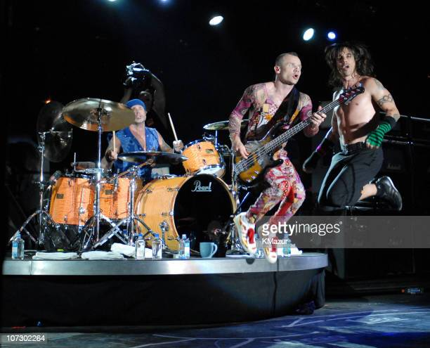 The Red Hot Chili Peppers during Lollapalooza 2006 Day 3 at Grant Park in Chicago Illinois United States