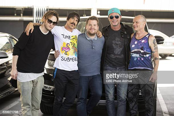 The Red Hot Chili Peppers join James Corden for Carpool Karaoke on 'The Late Late Show with James Corden' Monday June 13th 2016 on The CBS Television...