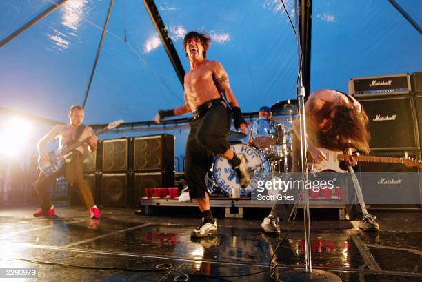 The Red Hot Chili Peppers perform on Ellis Island in New York City on the day their new album 'By The Way' was released 7/9/02 Photo by Scott...