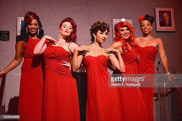 The Red Hots perform at the 64th Annual Primetime Emmy Awards Governors Ball preview at Academy of Television Arts Sciences on August 22 2012 in...