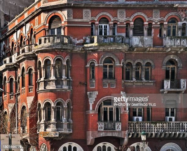 the red house at thessaloniki - dimitrios tilis stock pictures, royalty-free photos & images