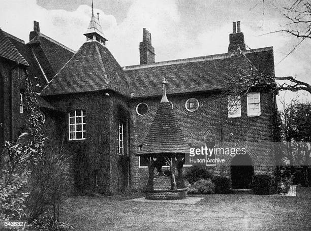 The Red House in Bexley Kent where designer William Morris lived from 1860 to 1865 The house was designed by Philip Webb a friend of Morris'