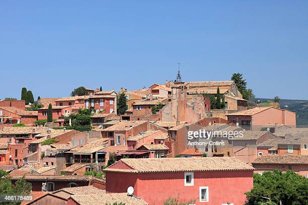 The red ochre colored Provencale town, Roussillon