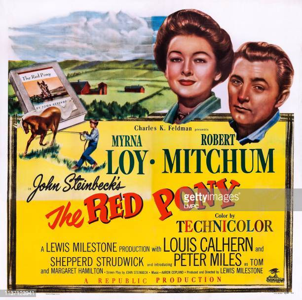 The Red Pony poster US poster art from left Myrna Loy Robert Mitchum 1949