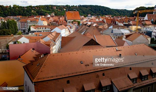 The red roofs of Meissen in the historical city on September 01, 2020 in Meissen, Germany.