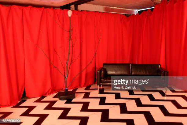 The red room set and 'the arm' is recreated for fans to enjoy during the Twin Peaks UK Festival 2017 at Hornsey Town Hall Arts Centre on October 7...