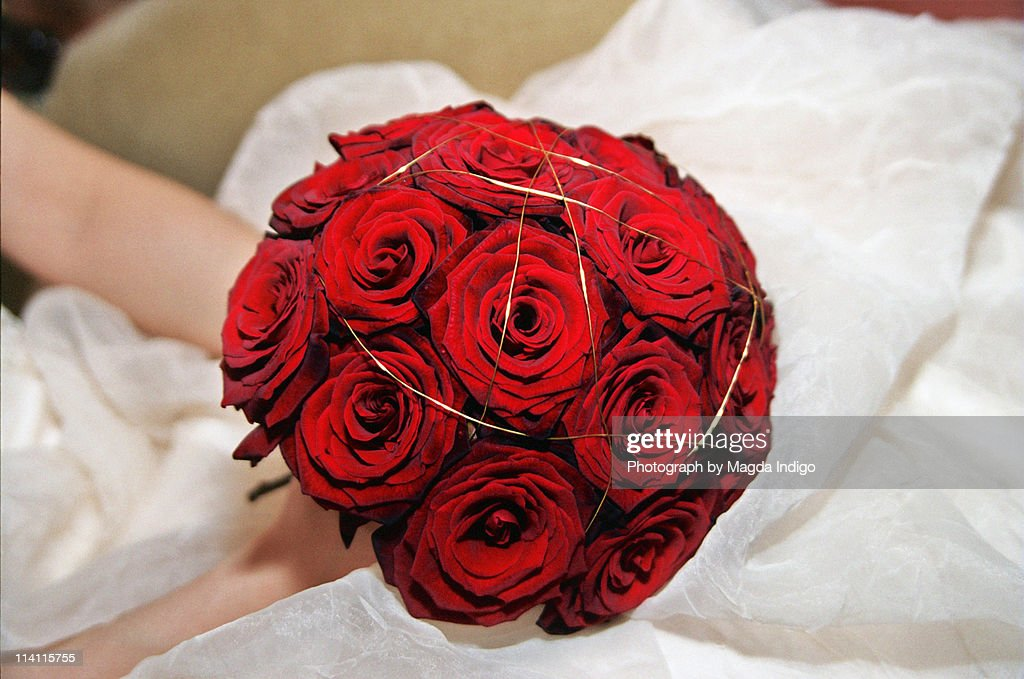 The red rose wedding banquet : Stock Photo