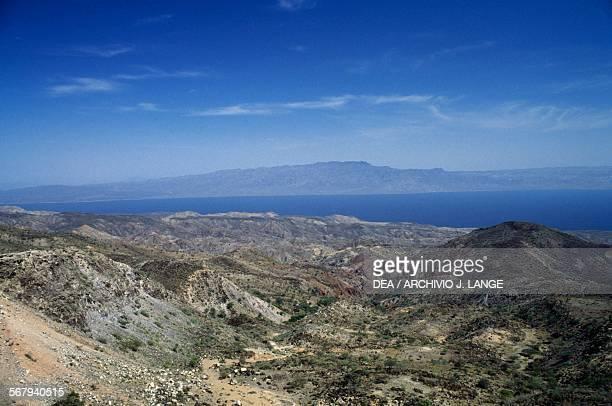 The Red Sea with the Yemen coastline in the backgorund Djibouti