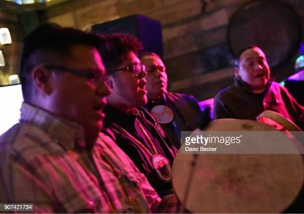 The Red Spirit Singers perform at Steelhouse and Eternal Front presents Beyond the Front Lines during the 2018 Sundance Film Festival on January 19...