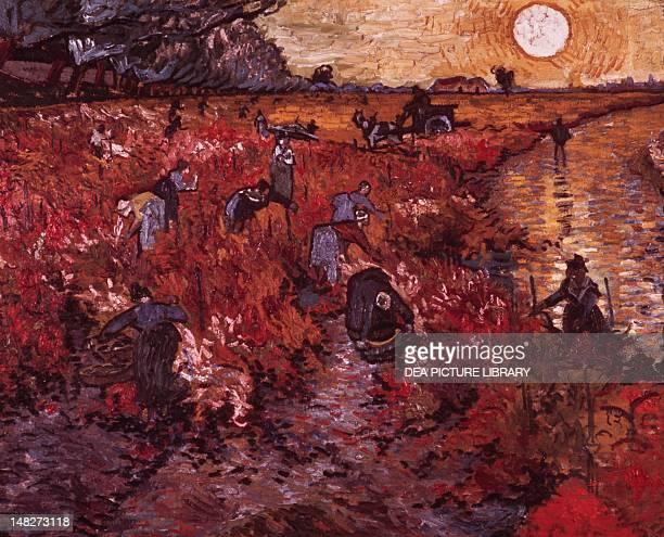 The red vineyard by Vincent van Gogh Mosca Gosudarstvennyj Muzej A S Puskina