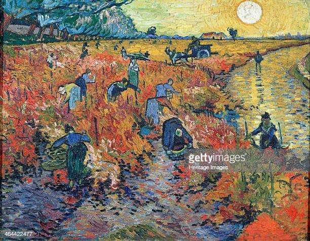 'The Red Vineyards at Arles' 1888 Found in the collection of the State A Pushkin Museum of Fine Arts Moscow