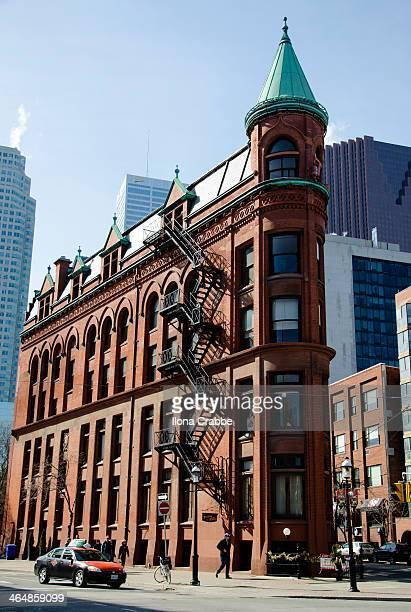 The red-brick Gooderham Building is a historic landmark of Toronto, Ontario, Canada