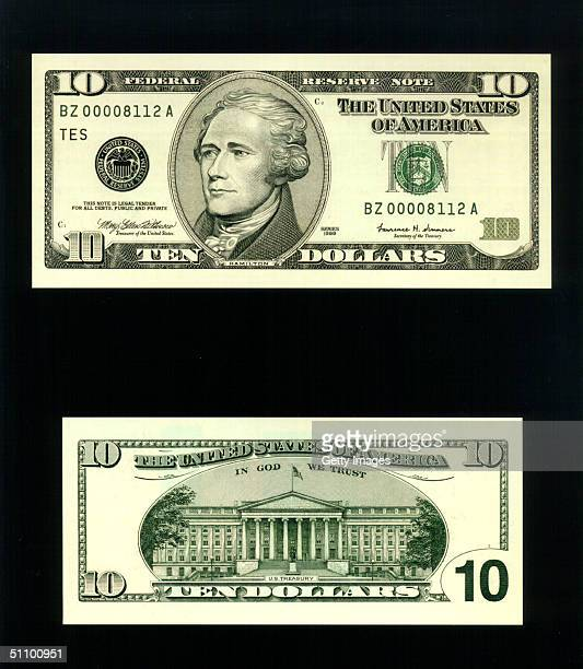 The Redesigned $10 Bill Which Was Unveiled At The Treasury Department In Washington November 16 1999 The Redesigned $5 And $10 Bills Have Several New...