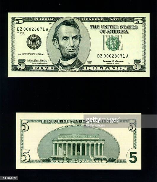 The Redesigned $5 Bill Which Was Unveiled At The Treasury Department In Washington November 16 1999 The Redesigned $5 And $10 Bills Have Several New...